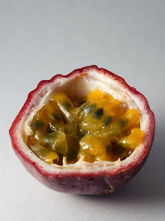 The inside of a passionfruit by Alexander Klink