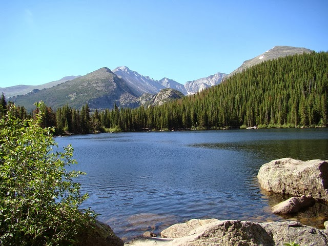 A stunning view of the bear lake colorado
