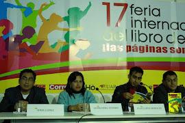 PRESENTACIÓN DE BESOS VOLADOS. FERIA INTERNACIONAL DEL LIBRO DE LIMA