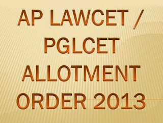 LAWCET / PGLCET College Seat Allotment Order 2013 Download at www.cetadm.apsche.ac.in