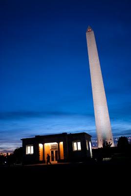 Washington Monument at dusk. Washington, DC.