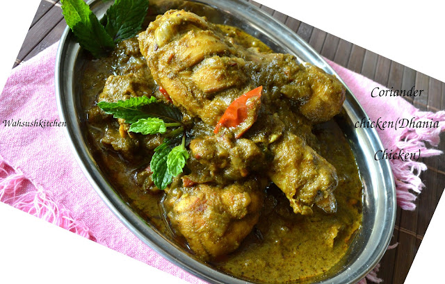 coriander chicken, dhania chicken
