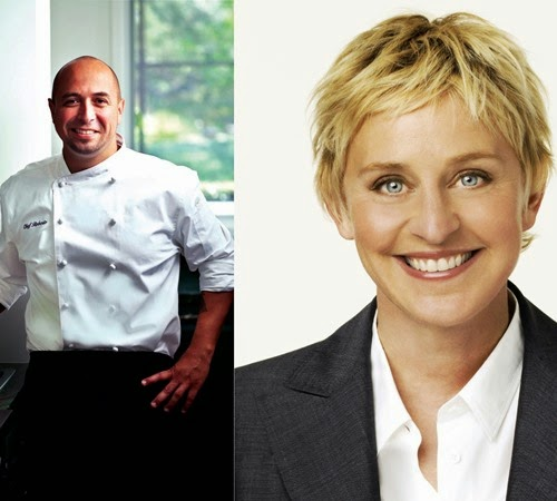 Chef Roberto Martin and Ellen DeGeneres