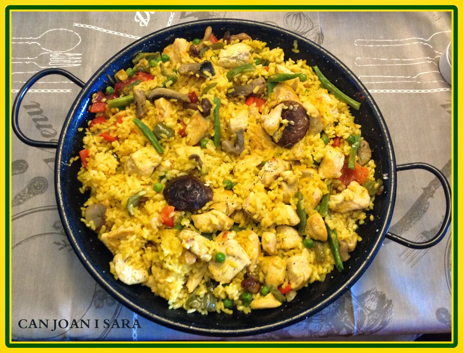 Paella de pollo setas y verduras recetas de cocina - Cocina con sara paella ...