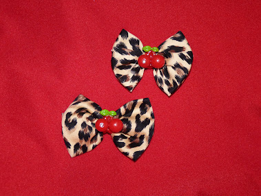 leopard and cherries haircandy