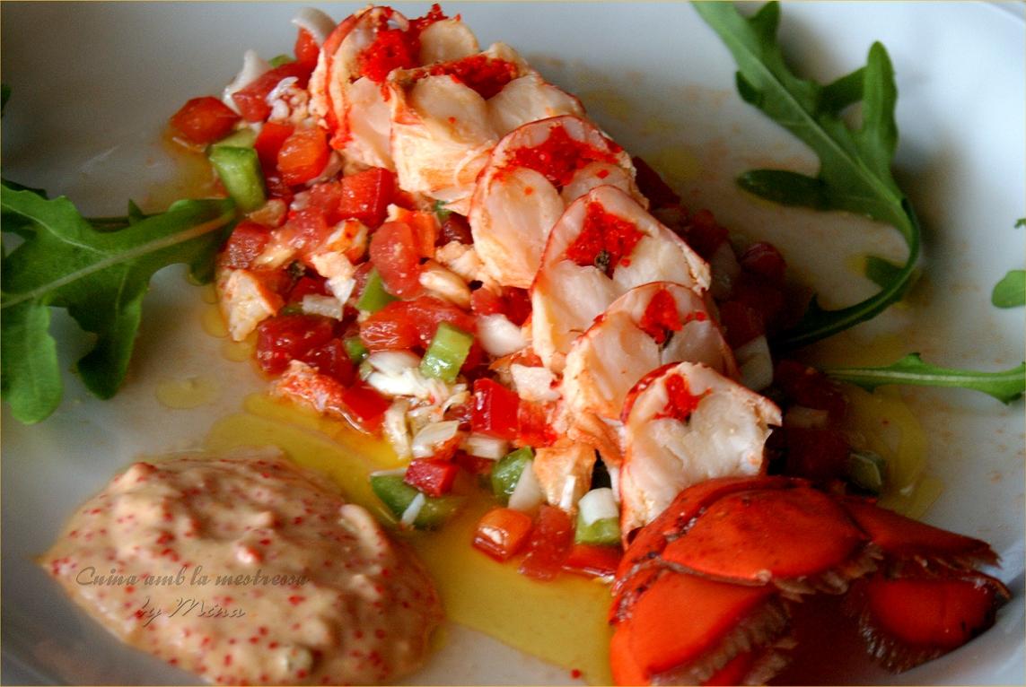 Cuina amb la mestressa ensalada de bogavante con salsa de - Salsa para bogavante cocido ...