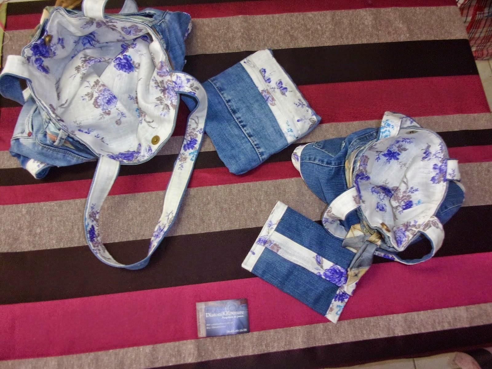 diatonikkouture stephane cotten sac a main assorti en jean femme et enfant. Black Bedroom Furniture Sets. Home Design Ideas