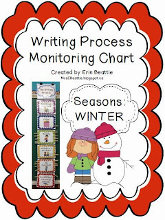 http://www.teacherspayteachers.com/Product/Writing-Process-Monitoring-Chart-SEASONS-Winter-922744