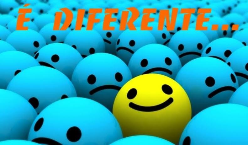 É diferente...