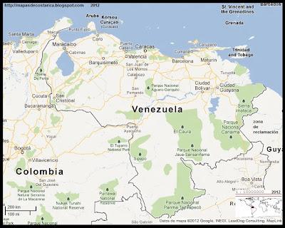 Mapa de VENEZUELA, Google Maps