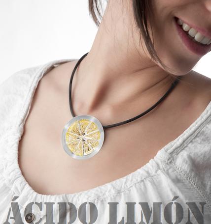 Colgante plata limon Stimuls