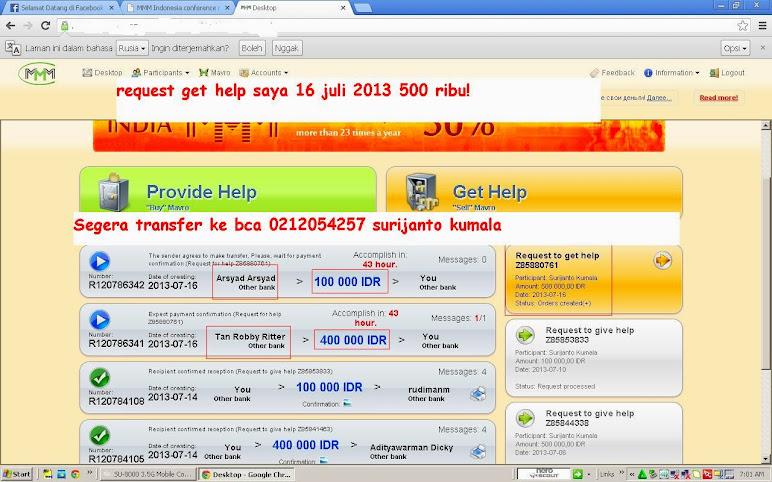 Data Saya Get Help Pertama Kali 500 Ribu 16 Juli 2013