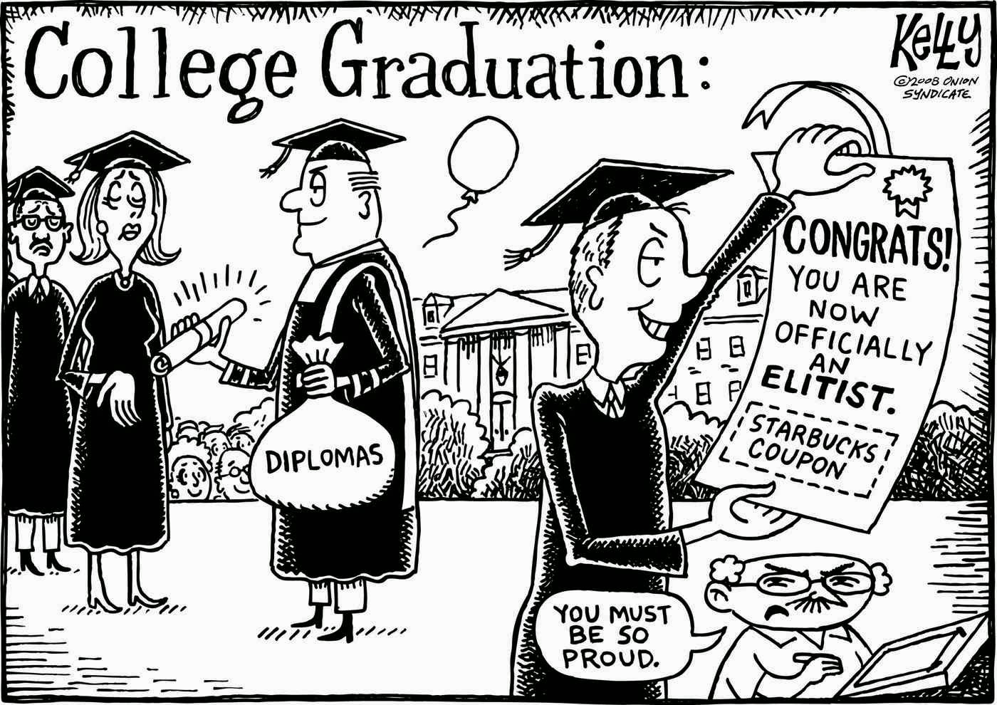 College Graduation Funny Cartoon, Jokes