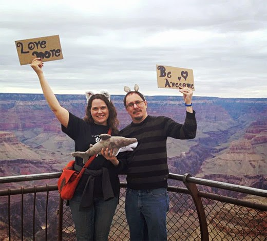 *More Than Two* book authors Franklin Veaux and Eve Rickert at the Grand Canyon