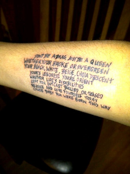 lyrics tattoo. lyrics tattoo.