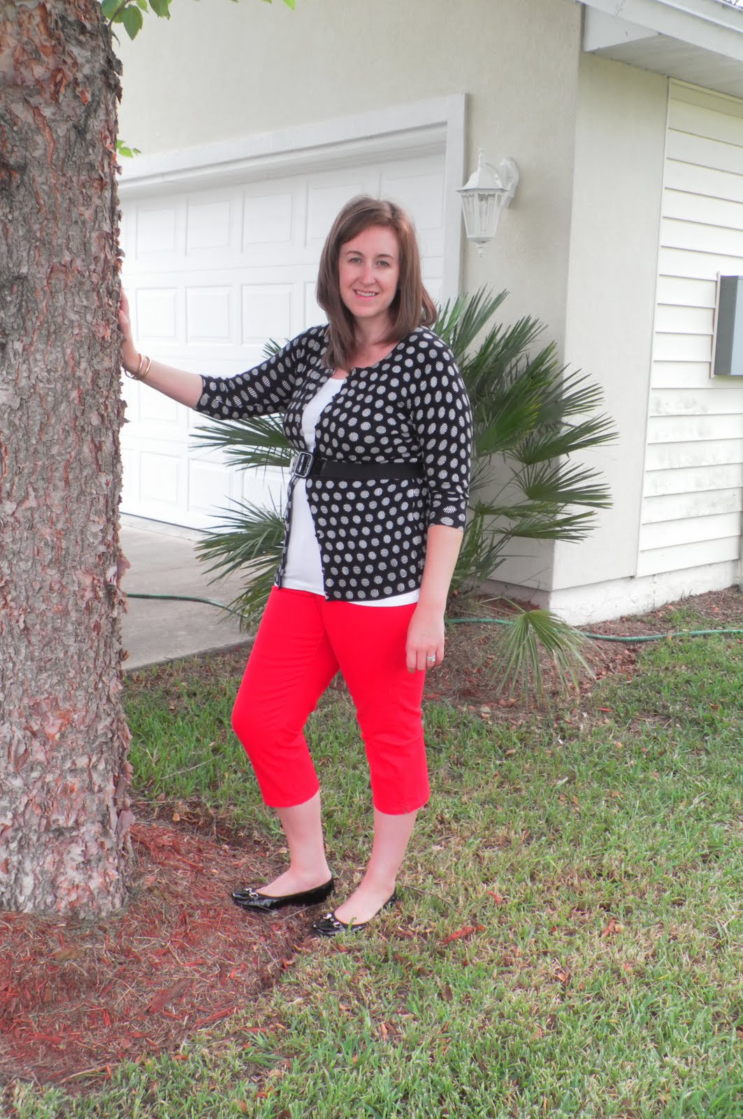Fashion by alicia polka dots and red pants polka dots and red pants sisterspd