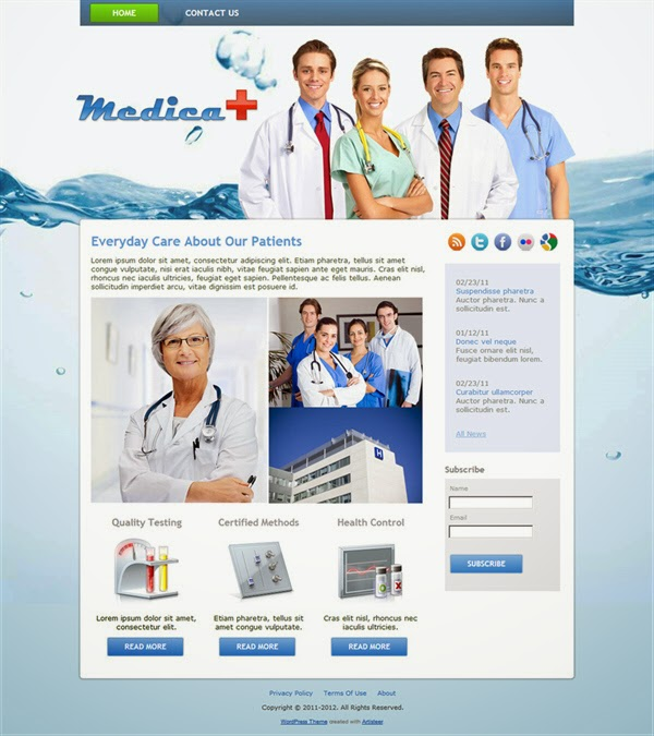 Medica - Free Wordpress Theme