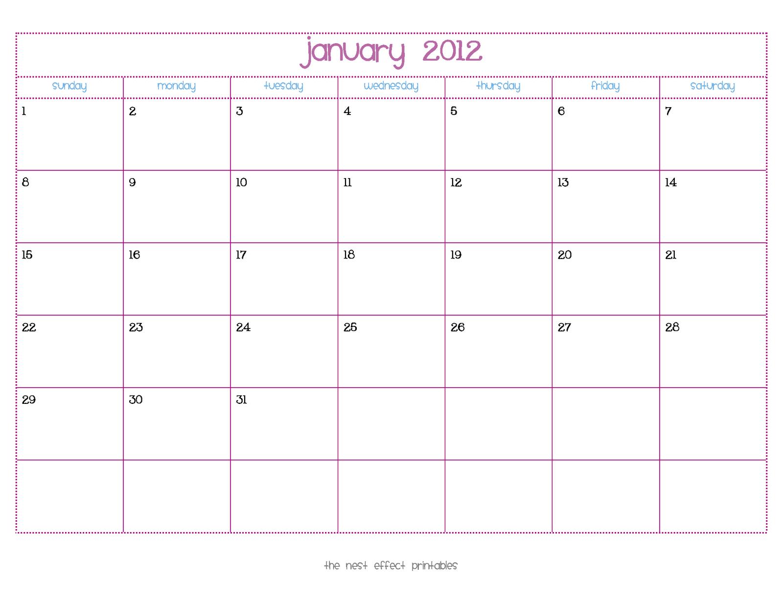 Write In Calendar Template Teacheng