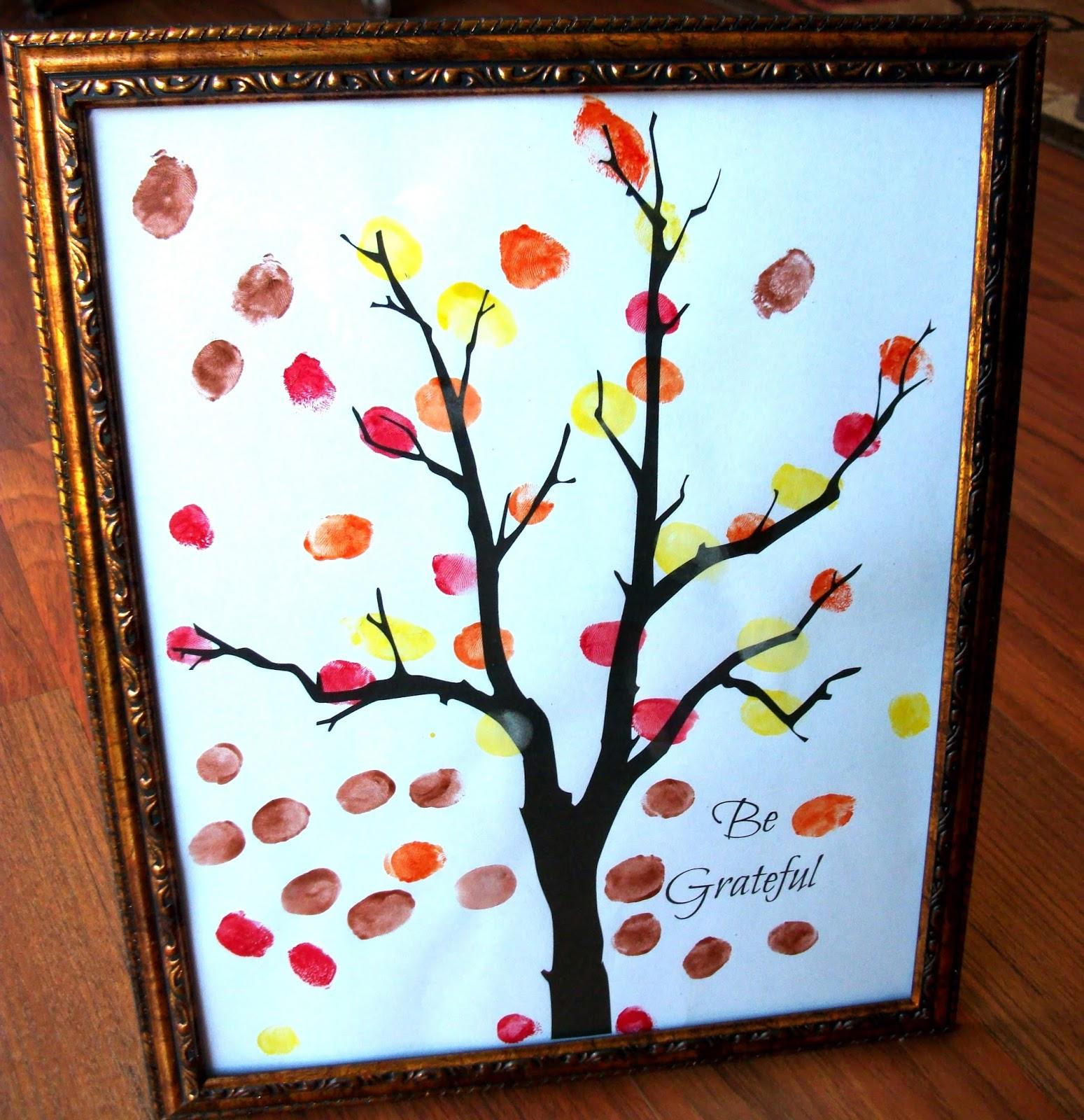 CJO Photo: Printable Thanksgiving Be Grateful Tree