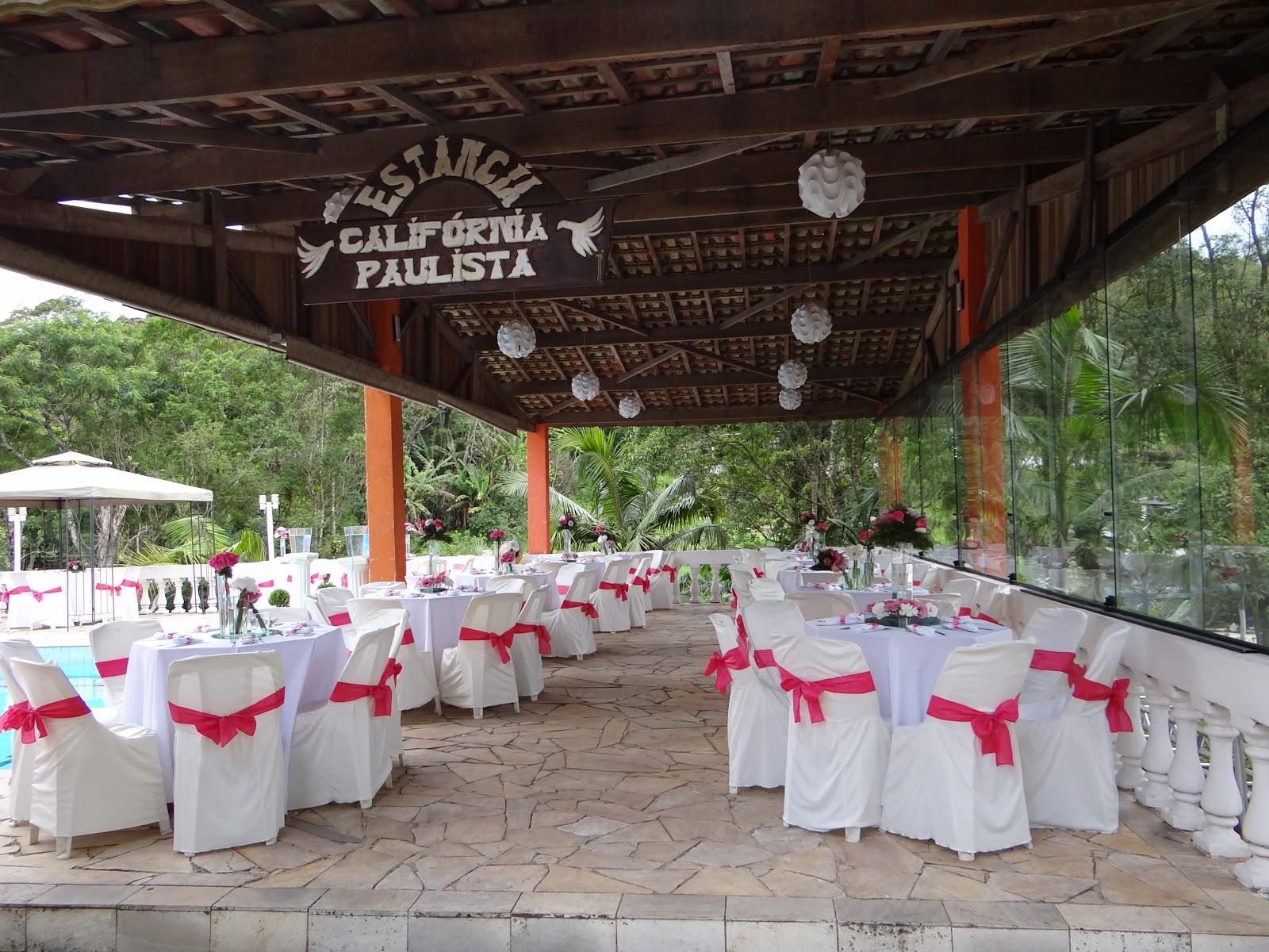 decoracao casamento na piscinaEstância Califórnia Paulista