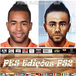 Alex Teixeira (Shakhtar Donetsk) e Brasil PES PS2