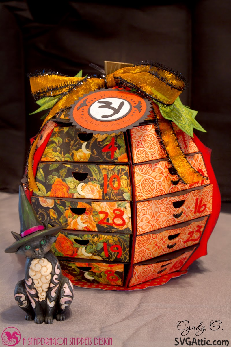 3d paper pumpkin countdown to Halloween