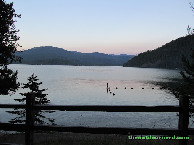 Outlet Campgrounds At Priest Lake, Idaho: Sunset View Of Priest Lake