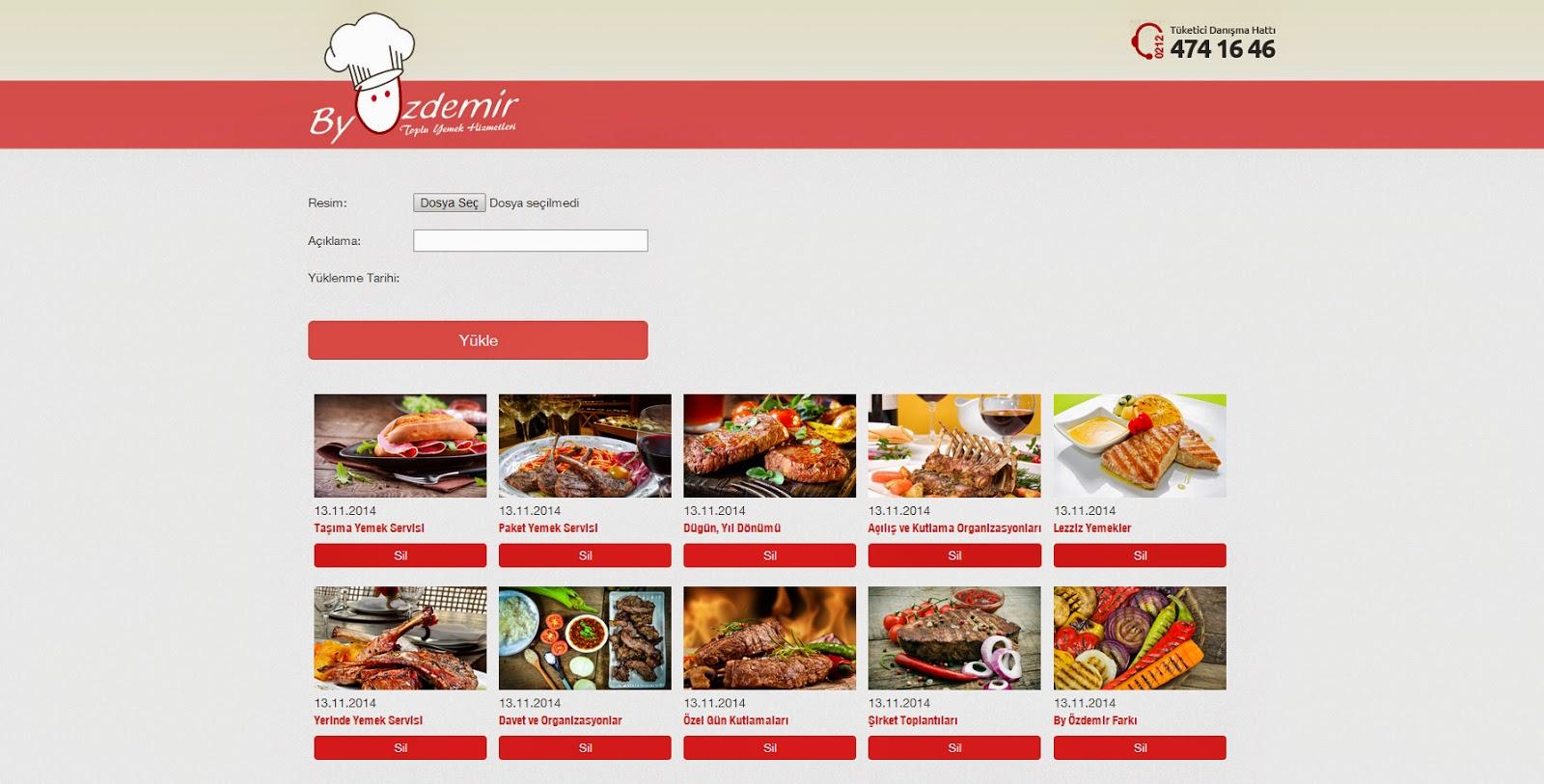 Web Sitesi -  Responsive Admin Sayfası