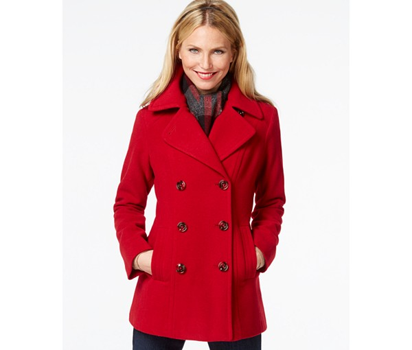 1. Buy A Red Long Coat For Her