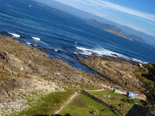 Cies Islands from Baiona in Galicia