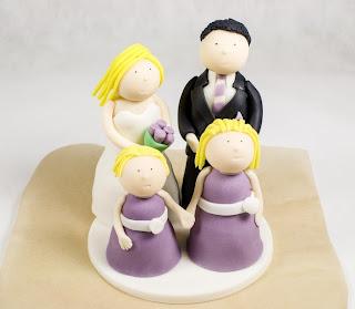 Poročna figurica - skupinska