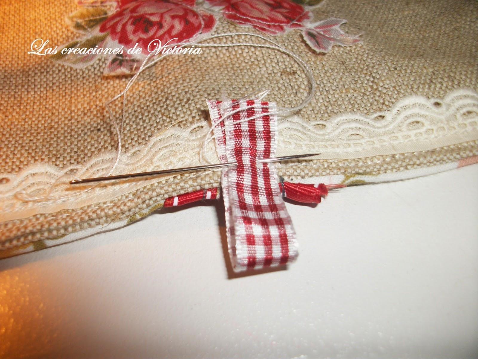 Las creaciones de Victoria. Vintage. Guarda-infusiones de patchwork.