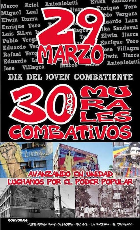 30 MURALES COMBATIVOS, DÍA DEL JOVEN COMBATIENTE