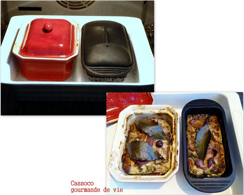 Cassoco gourmande de vie terrine poulet andouillette for Cuisson au bain marie au four