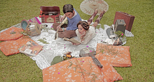 RabbitHole Prenup styling for Jolina Magdangal and Mark Escueta (2011)