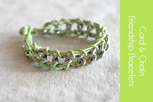 crafty jewelry: cord bracelet tutorial