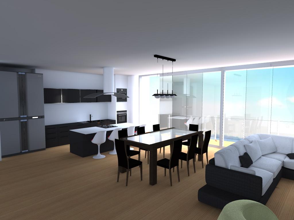Arq ep apartamento pe as blancas bogota for Cocina comedor en l