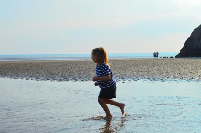 Girl Paddling Pendine Sands
