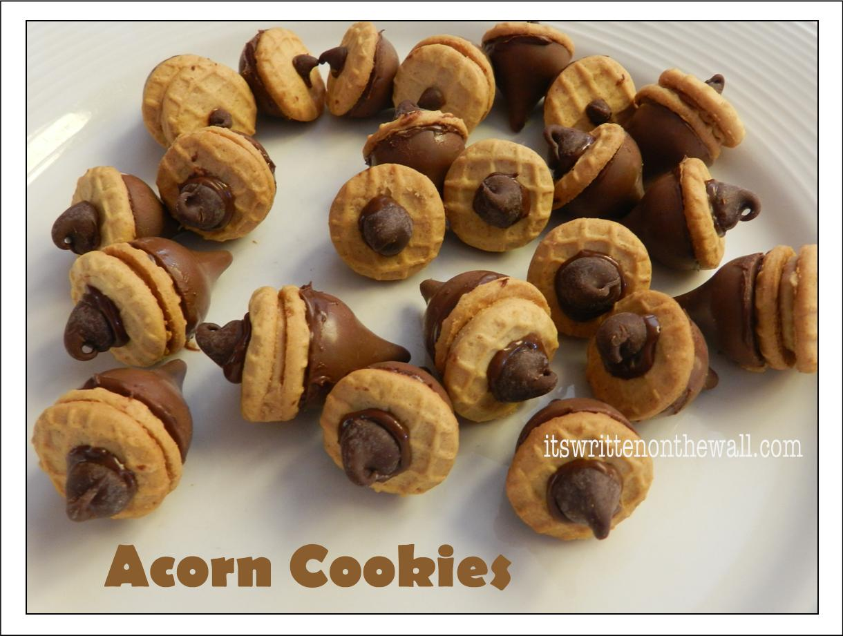 Acorn Cookies with Hershey Kisses