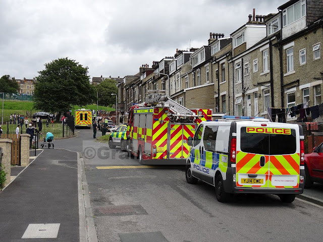 Police fire and ambulance at Lonsdale Street Hendford Drive