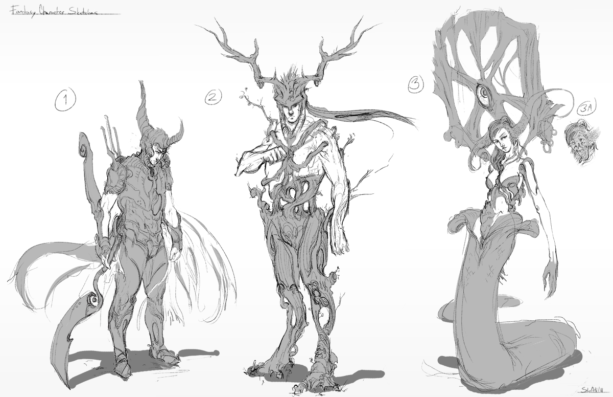 Fantasy Character Design Sheet : Fantasy character sketches jason slavin