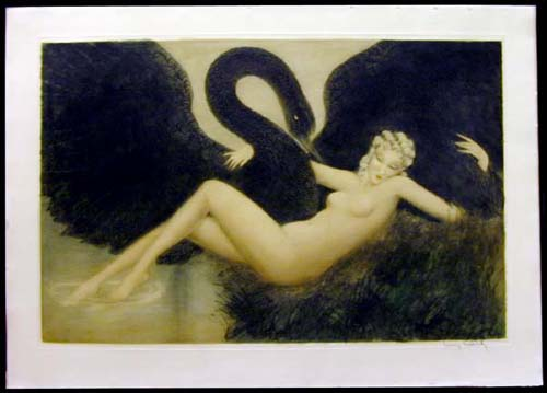 louis icart leda swan