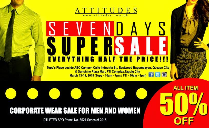 Attitudes Apparel 7 Days Super Sale