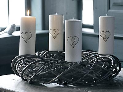white life adventskranz advent wreath. Black Bedroom Furniture Sets. Home Design Ideas