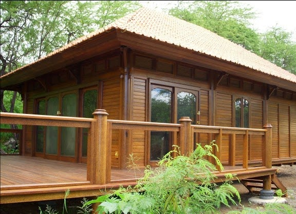 Wooden house from bali for Bali style homes to build
