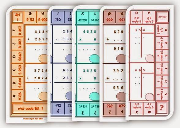 Ipot me t me ce2 cm1 calcul autonomie le jeu du code for Bureau tableau 2 en 1