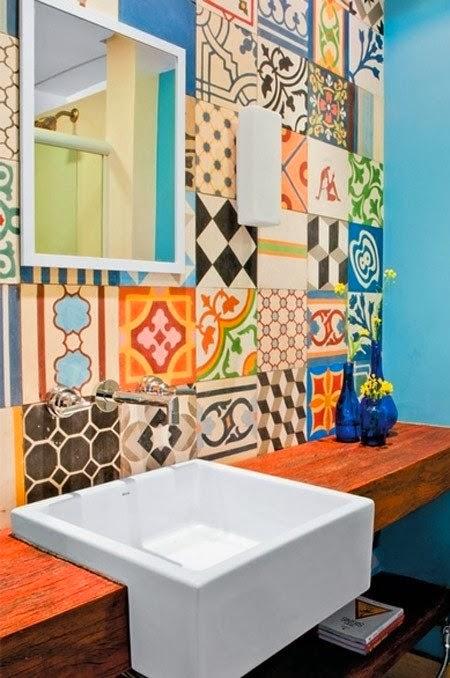Detalhes do c u azulejos mosaicos decorados for Azulejos decorados