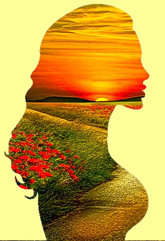 campos de flores + silhueta_ exterior beje