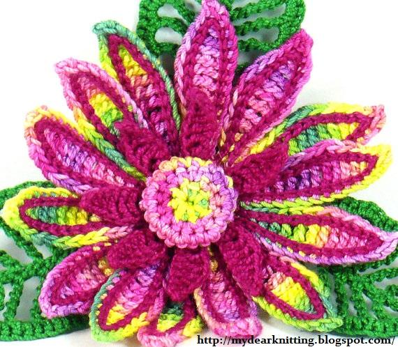 Цветы лилии вязаные крючком схемы.