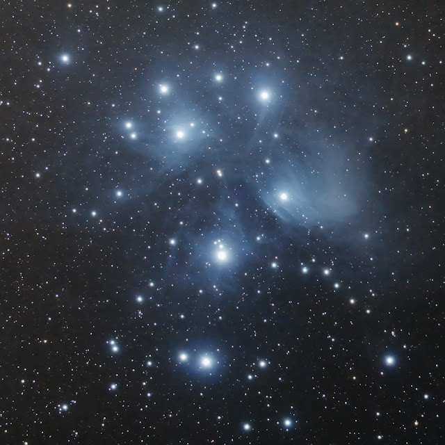 Pleiades taken with Canon DSLR and Telescope, Wellandport Ontario